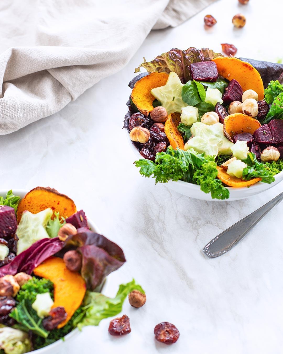Salat Weihnachten.Winterlicher Salat Mit Kürbis Avobelle